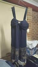 navy blue chiffon dress..size 16 Green Valley Liverpool Area Preview