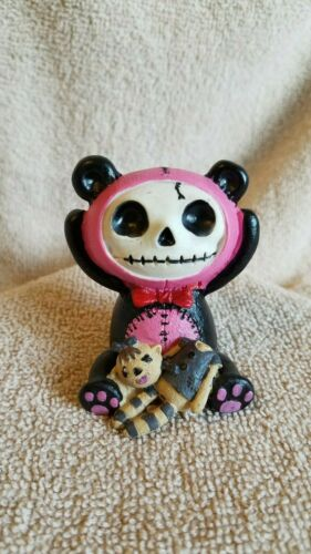 FURRYBONES Pink Pandie the Panda Figurine Skull in Costume New Free Shipping