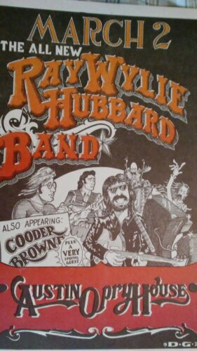 Ray Wylie Hubbard Austin Opry House POSTER back bonus armadillo cobras