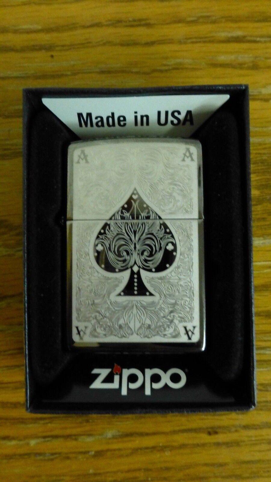 spade card pocket lighter ice