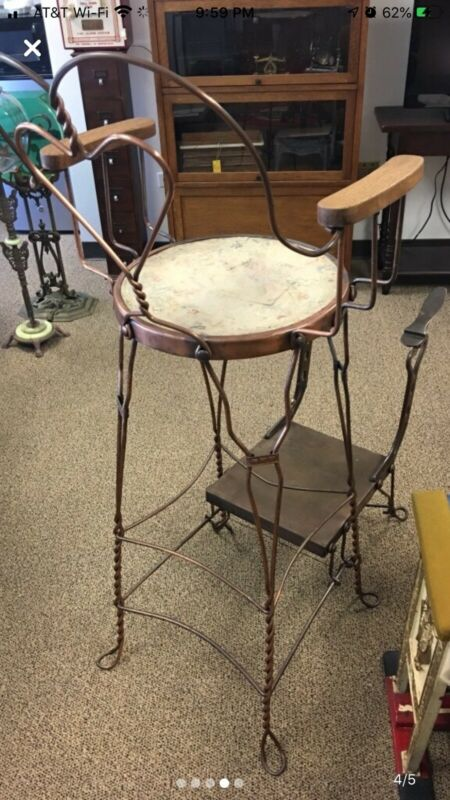 Vintage Shoe Shine Chair Stand