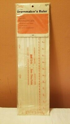 Vintage Scovill Dritz See-Thru Dressmakers Ruler No. 621 See Thru Ruler