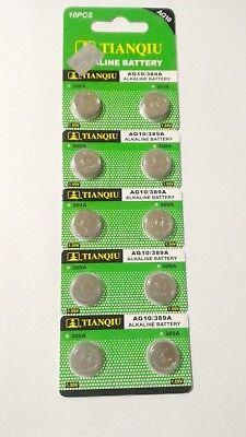 10 Pack AG10 LR1130 L1131 LR54 189 389 390 1.5V Alkaline Battery Watch