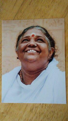 "BEAUTIFUL PHOTO AMMA MATA AMRITANANDAMAYI GURU MOTHER TEACHER INDIA 4"" x 5 1/4"""