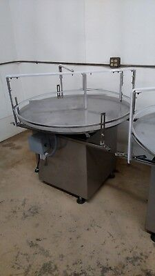 Rotary Accumulation Or Feed Turntable 42 Diameter With Heavy Duty Drive