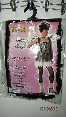 Youth Girls Tween Size 12 14 Dark Angel Spirit Halloween Costume 5 Piece Outfit - Dark Angel Outfits