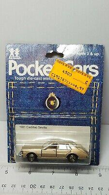 VINTAGE 1/69 TOMY POCKET CARS 1981 CADILLAC SEVILLE NO. F45