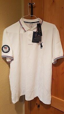 Ralph Lauren Polo 2016 Olympic Shirt White XXL XG