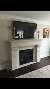 * cast stone fireplace mantels