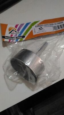 Filtro cafetera 12 tazas aluminio embudo de 8,2 x 11,5 cm cafe...