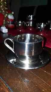 Stainless steel coffee cups and saucers Somerville Mornington Peninsula Preview