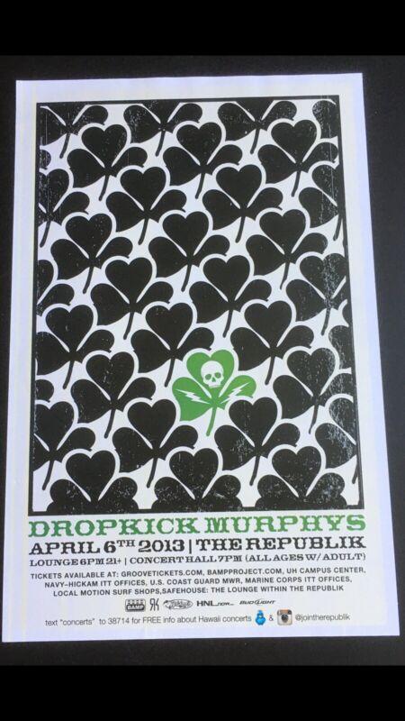 DROPKICK MURPYS 2013 HAWAII CONCERT POSTER