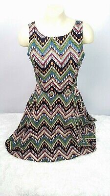 Lush Dress Women Size Small A-Line Sleeveless Midi Fitted Waist