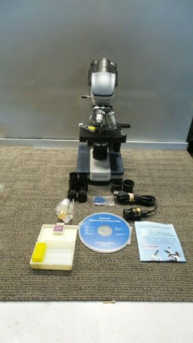 AmScope 40X-2000X LED Digital Binocular Compound Microscope + Accessories