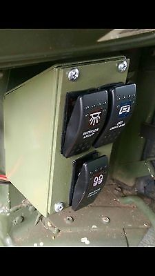 HUMVEE M998 3-GANG CONTROL PANEL WITH ROCKER SWITCHES