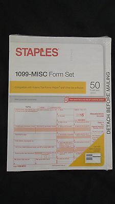 Staples 2015 Irs Tax Form 1099 Misc 5 Part Form Set   Bonus 1099 Envelope