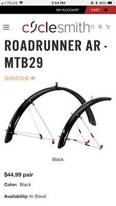Front and rear bike fenders