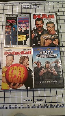 5 DVDs, Movies, Rush Hour 1 & 2 - The Man - Dodge Ball - Delta Farce - Rush Hour 5