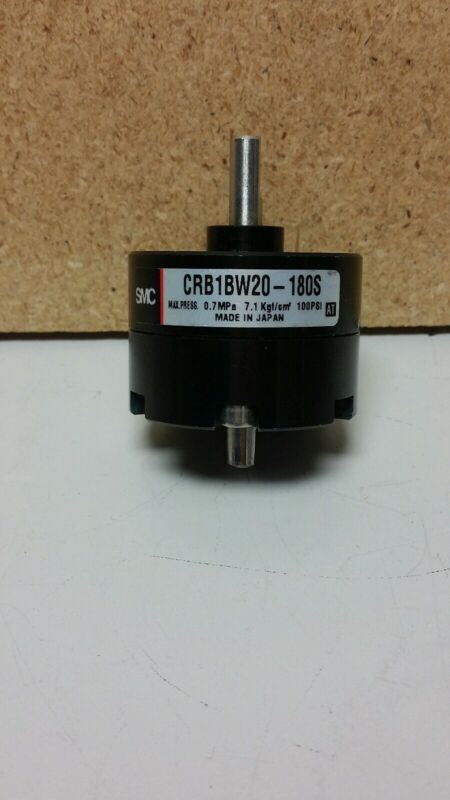 SMC Pneumatic Vane Style Rotary Actuator CRB1BW20-180S Used No cables