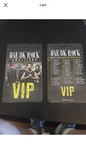 One Ok Rock Vip Tour Laminate Pass
