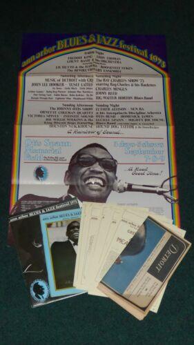 ANN ARBOR BLUES JAZZ FESTIVAL 1973 POSTER+COMPLETE PRESS KIT RAY CHARLES SUN RA