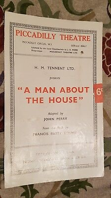 1946 Theatre Programme A MAN ABOUT THE HOUSE - FLORA ROBSON BETTY SINCLAIR