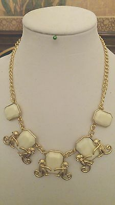 Monkeys & Cabochon Necklace new w/tag  Ret. $59.50 FREE SHIPPING