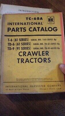 International 6 Series 9 Series Crawler Tractor Parts Catalog Td6 Td9 T6