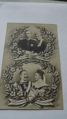 1906 Kaiser Wilhelm of Germany  Silver Wedding Original vintage Postcard