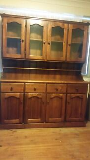 4 Door Buffet and Hutch ( Solid wood ) Minto Campbelltown Area Preview