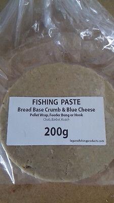 Bread & Blue Cheese Paste, Fishing Pellet/Boilie Wrap Chub & Barbel 200g River