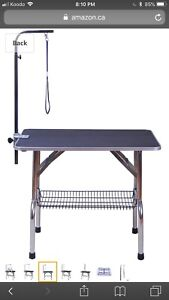Pet grooming table new