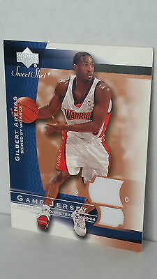 Wizards Arenas (2003-04 Sweet Shot Jerseys GA-J GILBERT ARENAS (Wizards))