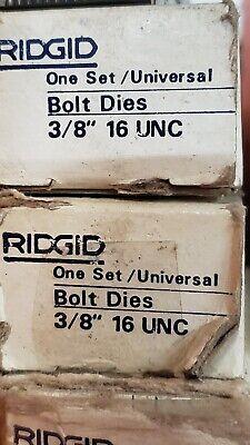Ridgid Universal Head 38-16 Unc Bolt Die Set 48225