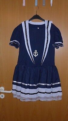 Matrosenkostüm für Damen Kleid Grösse L mit Halstuch Mütze und Söckchen ()