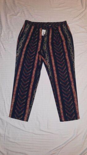 LAUREN RALPH LAUREN Cropped Pants size 16 multi color Artsie Look NWT