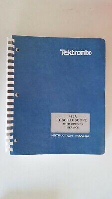 Tektronix 475a Oscilloscope With Options Service Instruction Manual 070-2162-00