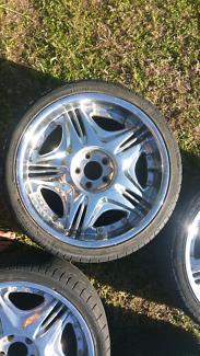 "Wheels 20 inch 5 stud, mags alloys rims set of 4, PCD 5x114.3 20"""