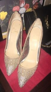 Christian Louboutin crystal strass pumps