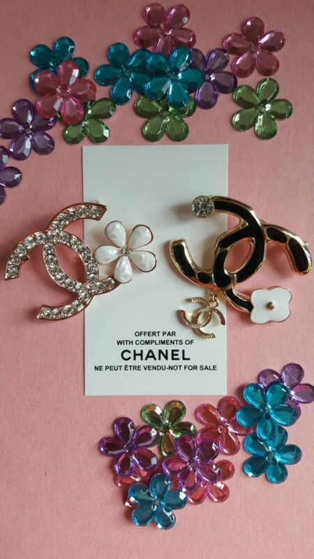Chanel VIP Promo Floral Duo Brooch Set