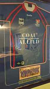 Framed and signed 2009 Newcastle Knights Jersey Whitebridge Lake Macquarie Area Preview