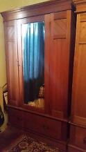 Solid wood antique wardrobe pair Madeley Wanneroo Area Preview
