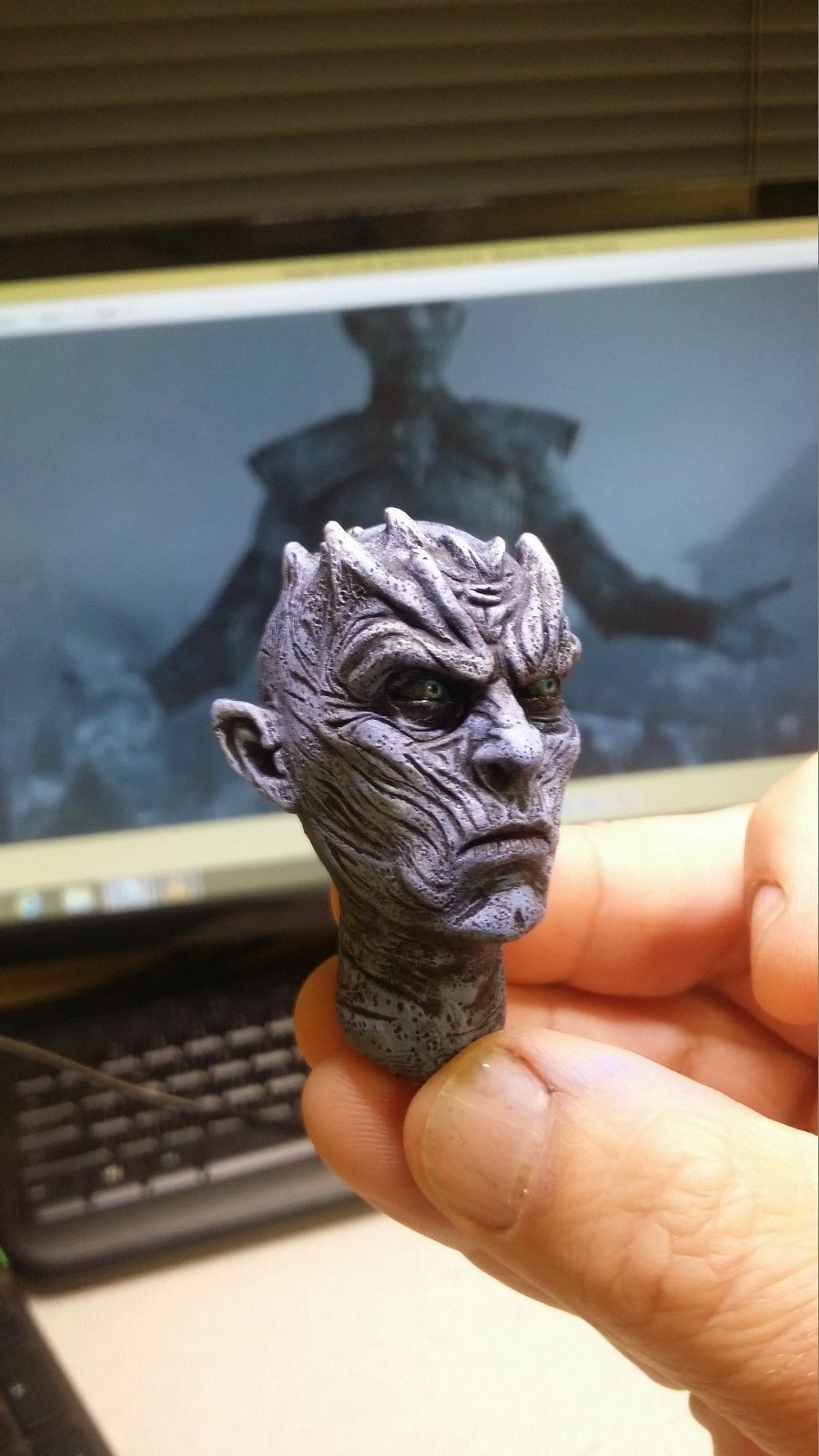 custom game of thrones night king painted for 12 inch figure