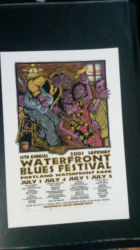 Waterfront Blues Festival, Portland | 2003 Silk Screen Poster | Gary Houston