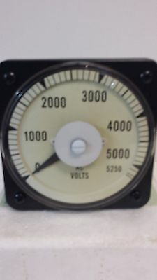 New Unused Yokogawa 0-5250 Vac Panel Mount Voltmeter 103021pzul