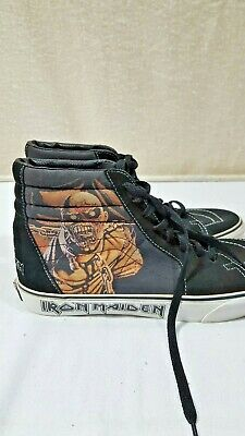 Vans Iron Maiden Piece of Mind Hi Top US 10 1/2 Heavy Metal Skateboard Eddie New