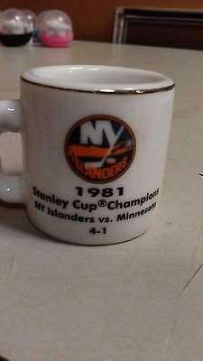 Nhl Stanley Cup Crazy Mini Mug New York Islanders 1981 Champs W Opponent  Score