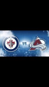 Two Winnipeg Jets Tickets For November 9th Against Colorado