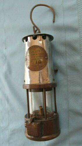 British Brass & Steel Protector Lamp & Lighting Eccles Safety Lamp-Cozalene Oil