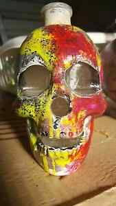 Handpainted glass skull decor Bull Creek Melville Area Preview